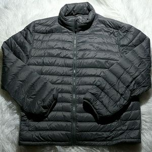 Other - NWOT Packable Gray Down Puffer Jacket